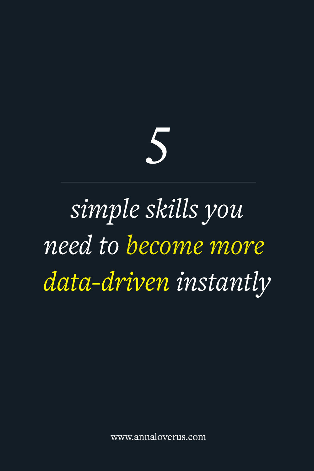 With marketing moving towards being more data-driven, we all need to update our skillsets if we want to stay on top. Being a math geek, I've listed five simple skills I think you should learn to get started.