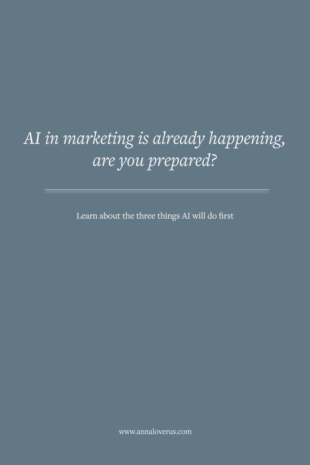 Marketing will be one of the first fields getting a massive make-over from AI. Here are three ways AI in marketing is already happening.
